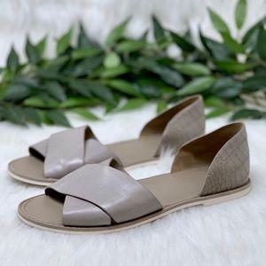 Vince D'Orsay Slide Sandal Crocodile Leather 7